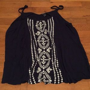 Torrid Tribal Tank Top - Navy Blue